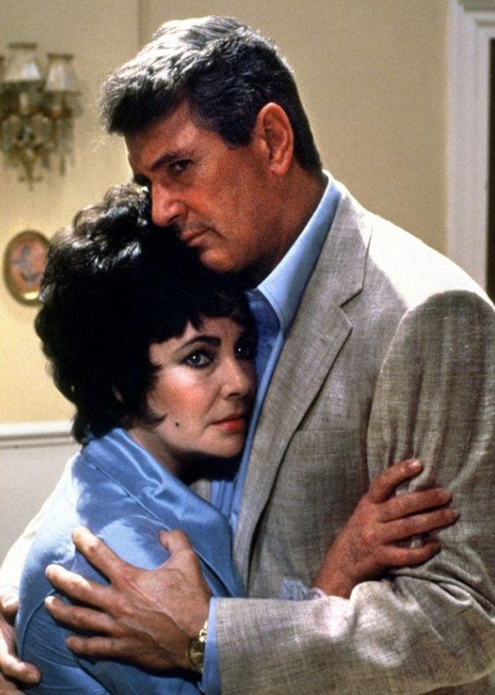 """Elizabeth Taylor and Rock Hudson in """"The Broken Mirror"""", 1980"""