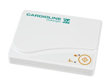 ACQUISITORE TRACCIA CLICKECGBT Unità di acquisizione ECG. Unità di acquisizione digitale a 12 canali in grado di trasmettere il segnale ECG in tempo reale al PC via USB. Grazie al suo design ergonomico e alla leggerezza garantisce un'estrema semplicità e solidità d'uso e comfort per il paziente.  Grazie al collegamento al PC via porta USB viene eliminata la necessità di batterie. Compatibile con i Software CARDIOLINE cubeecg ecubestress.