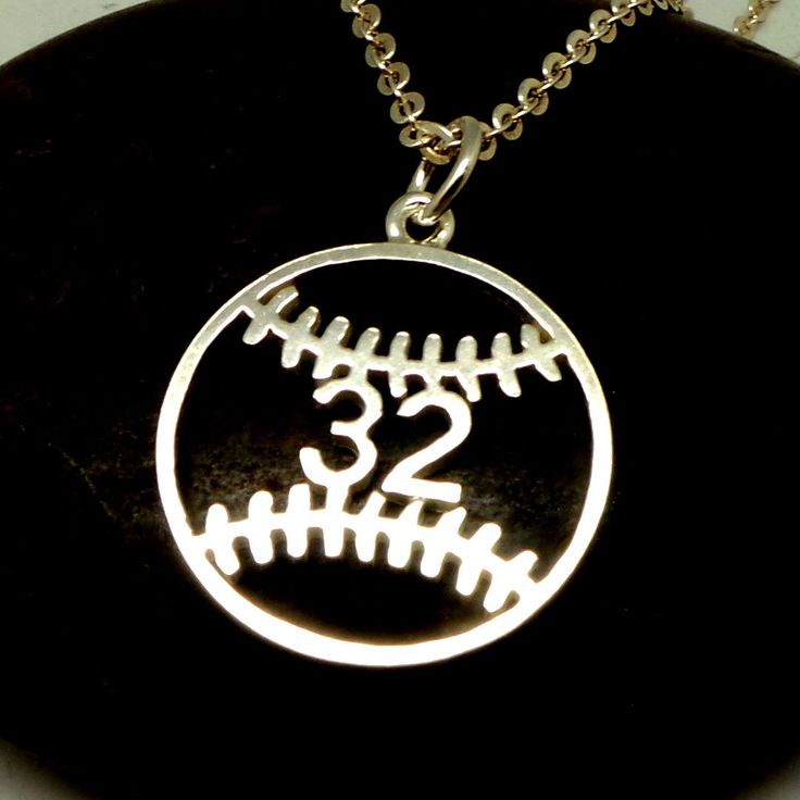 Personalized Number Baseball Necklace - Baseball Jewelry, Baseball Coach GIft for Women, Girl Lady, Lovers, Players, Mom by yhtanaff on Etsy https://www.etsy.com/listing/499098370/personalized-number-baseball-necklace