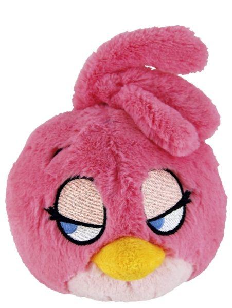 Angry Birds Stella -pehmo (30 cm)  Vaaleanpunainen Stella-pehmo on Angry Birds -parven suloisin siivekäs! Lintu juttelee, kun painat siinä olevaa nappia. Pehmon korkeus on n. 30 cm. Pintapesu, pyyhitään kostealla kankaalla.