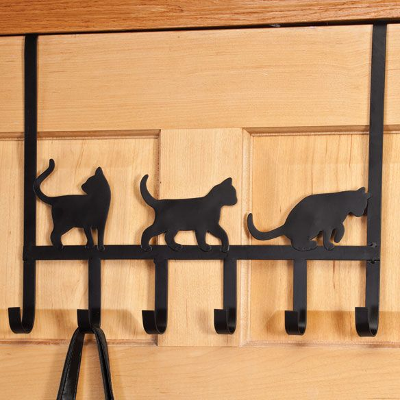 Cat Door Frame Sitters, Set of 2 - Cat Decor - Walter Drake