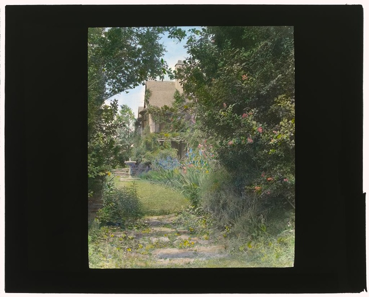 """""""Willowbank,"""" Joseph Coleman Bright house, 624 Morris Avenue, Bryn Mawr, Pennsylvania. Pathway to house"""