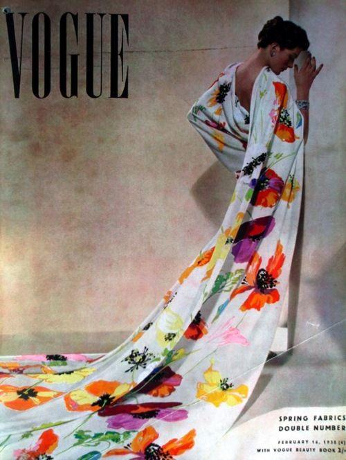 #boldblooms 1938 vogue uk by clover-vintage