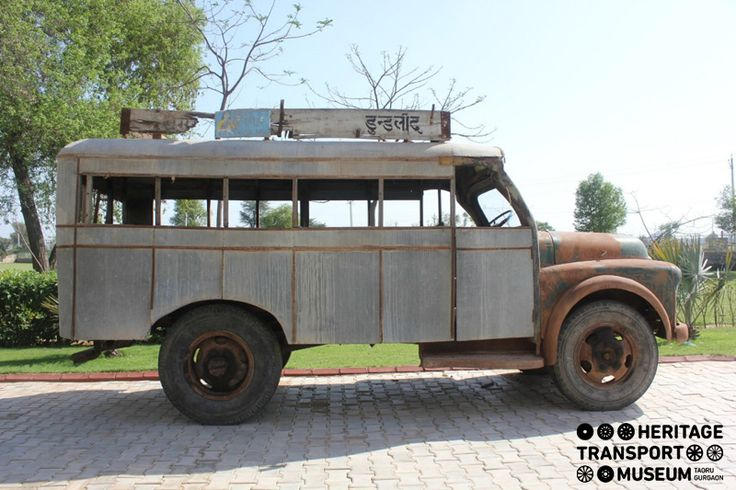 Standing smart in the museum balcony is this classic Fargo Bus of 1956! smile emoticon  Founded by the Fargo Motor Corporation, the Fargo products were used in India as a result of the collaboration between Premier Automobiles Ltd. and the Chrysler in 1946!