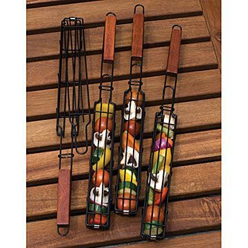 Check out  Kabob Grilling Baskets | bbq utensils | UncommonGoods...