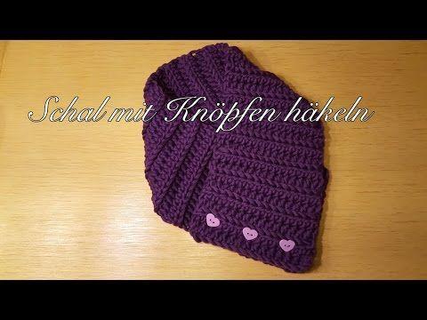 Schal mit Knöpfen häkeln Loop Schal Knopfschal für Kinder und Erwachsene – Yo…