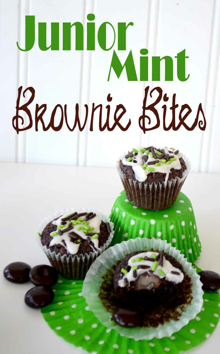 Quick and Easy Labor Day Treat! Junior Mint Brownie Bites!!