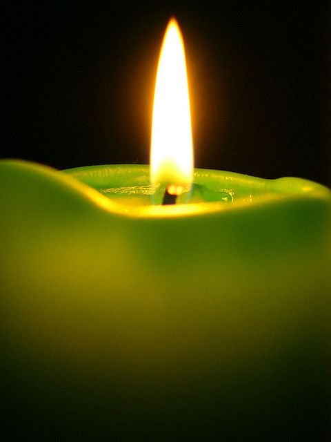 Green Candles Used For Money Fertility Growth