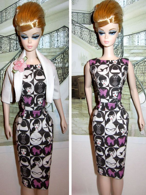 Luxury one fine summer afternoon Barbie silkstone sheath u bolero jacket