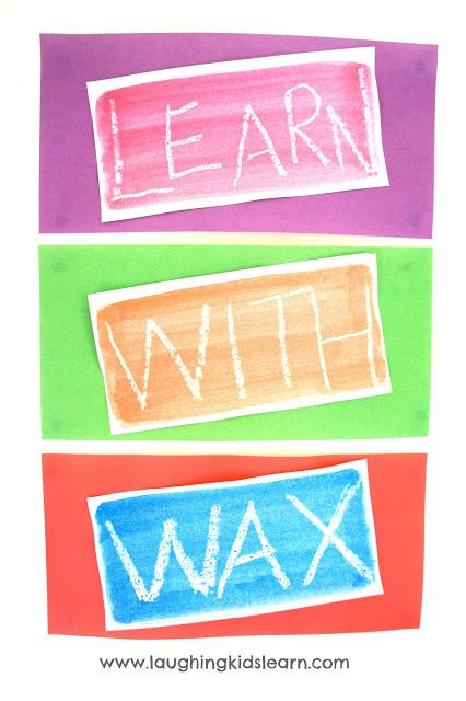 Great technique to inspire reluctant learners. Using candle wax and watercolour paints you can teach children anything and it's great fun!!!