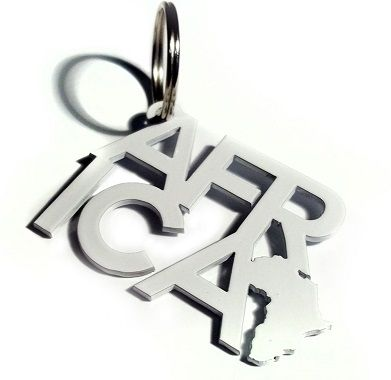 Africa Text Keyring by Michael Sathorar. www.mahh.co.za