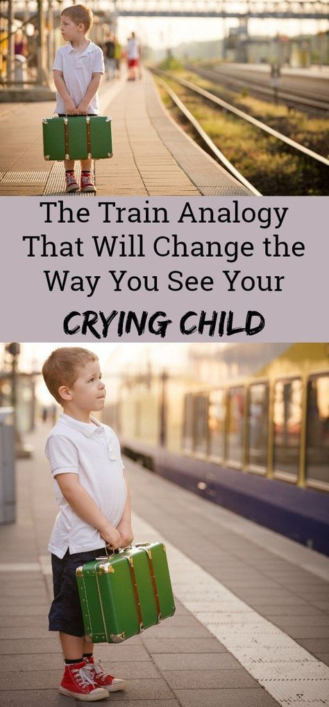 This train analogy will totally change the way you relate to your crying child. Such a great parenting article filled with positive parenting tips and advice! A must-read for all moms and dads.