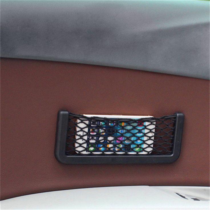 1 PC Mobil Kembali Belakang Batang Kursi Elastis String Net Mesh Tas Penyimpanan Saku Kandang 20 cm * 8 cm kontainer Organizer Mobil Styling