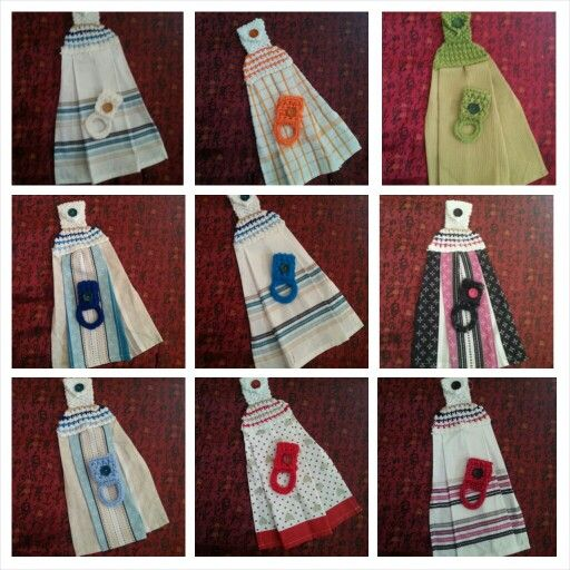 Hanging Tea Towels and Dish Cloth Holders sets $15.00 shipped