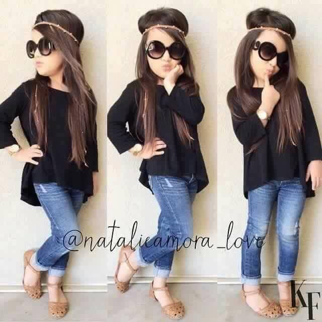 Cute with my black shirt and blue pants and a cute brown pair of sandals I want