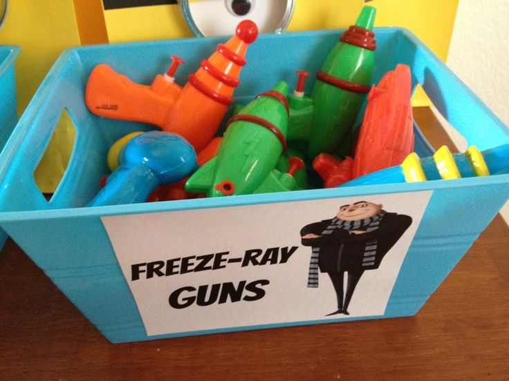 Freeze-Ray Guns could be used as party favors and to play with in the pool during the party!