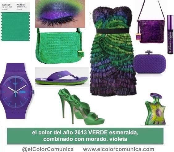 Verde esmeralda el color del a o combinado con morado for Como hacer color verde