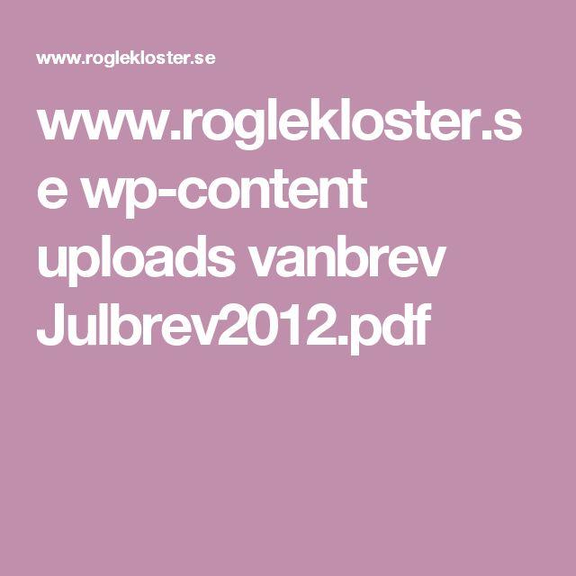 www.roglekloster.se wp-content uploads vanbrev Julbrev2012.pdf