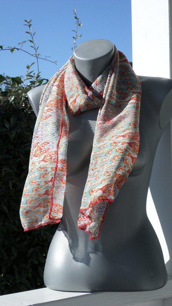 d3f91a373395 foulard écharpe tube tour de cou snood femme rouge blanc bleu nouvelle  collection