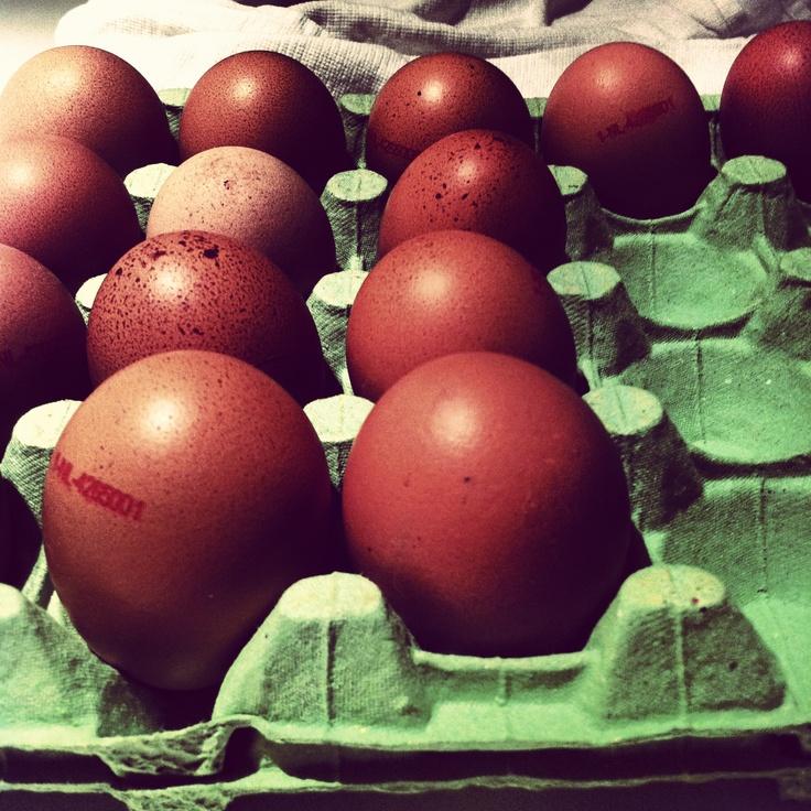 eieren in een doos