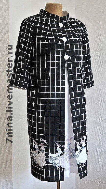 Купить Летнее пальто с вышивкой - летняя одежда, летнее платье, платье на заказ, пальто