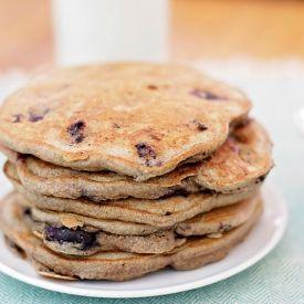 Almond Milk Wheat Pancakes [bbritnell] eat365.com.au