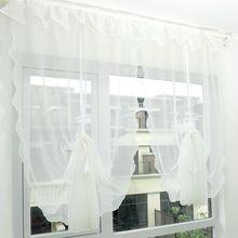 Amassado fio Falbala tela da janela Cortina roma Cortina de cozinha Cortina moderna Cortina de tule Chiffon chinês(China (Mainland))