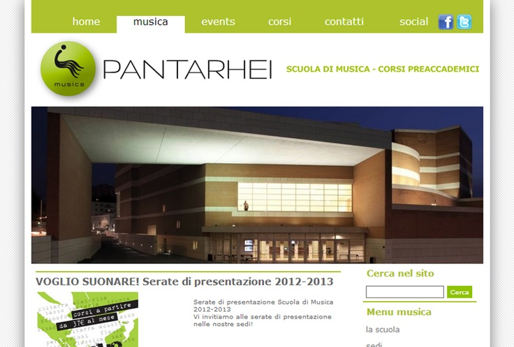 Website Pantarhei Vicenza