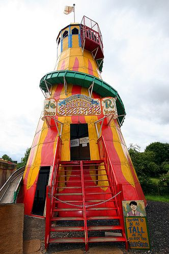 """Slip slidin` away A """"Helter Skelter"""" from the 1930`s, found in the Black Country Living Museum, near Birmingham, England."""