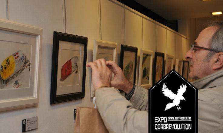 Inauguració de l'Exposició #Corbrevolution del Dr. Corb a l'ESpai d'Art 'Judith Vizcarra'. (12/12/2013).