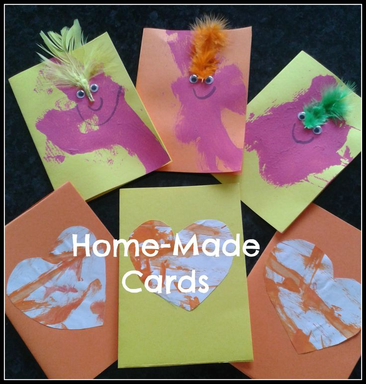 Home-made cards for kids to make