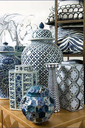 Blue and White Chinese Porcelain Vases