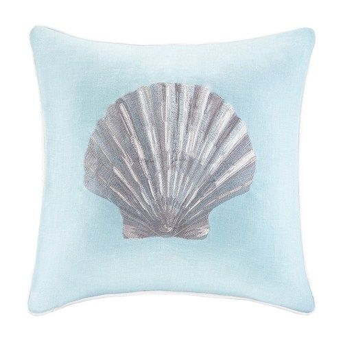Relax Back To The Shore With Quintessential Colors And Details In Our Aqua  Blue Linen Scallop. Toss PillowsDecorative ...