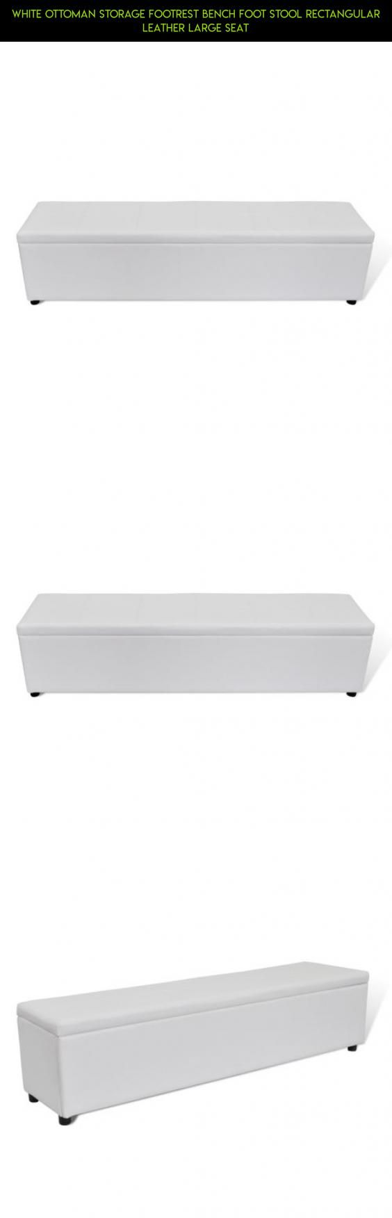 White Ottoman Storage Footrest Bench Foot Stool Rectangular Leather Large  Seat #kit #products # - 25+ Best Ideas About White Storage Ottoman On Pinterest Ikea