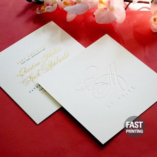 [ Wedding Invites ] Gold Foil x Letterpress Square Invites #invitations #wedding #weddinginvitation #weddingstationery #savethedate #rsvp #weddinginvitations #stationery #weddinginspo #weddinginspiration #weddingideas #weddings #invites #bridetobe #fastprinting #surryhills #sydney #melbourne #newyork #london #packaging #package #packagingdesign #graphicdesign #graphicdesigner #graphics #styleoftheday #photooftheday
