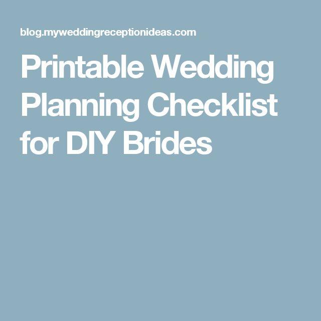 The 25+ best Printable wedding planning checklist ideas on - wedding checklist pdf