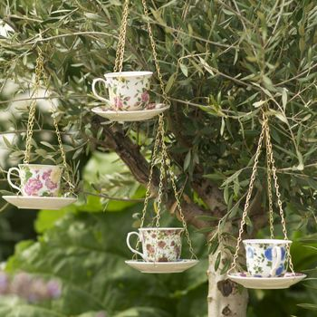 Teacup And Saucer Birdfeeder