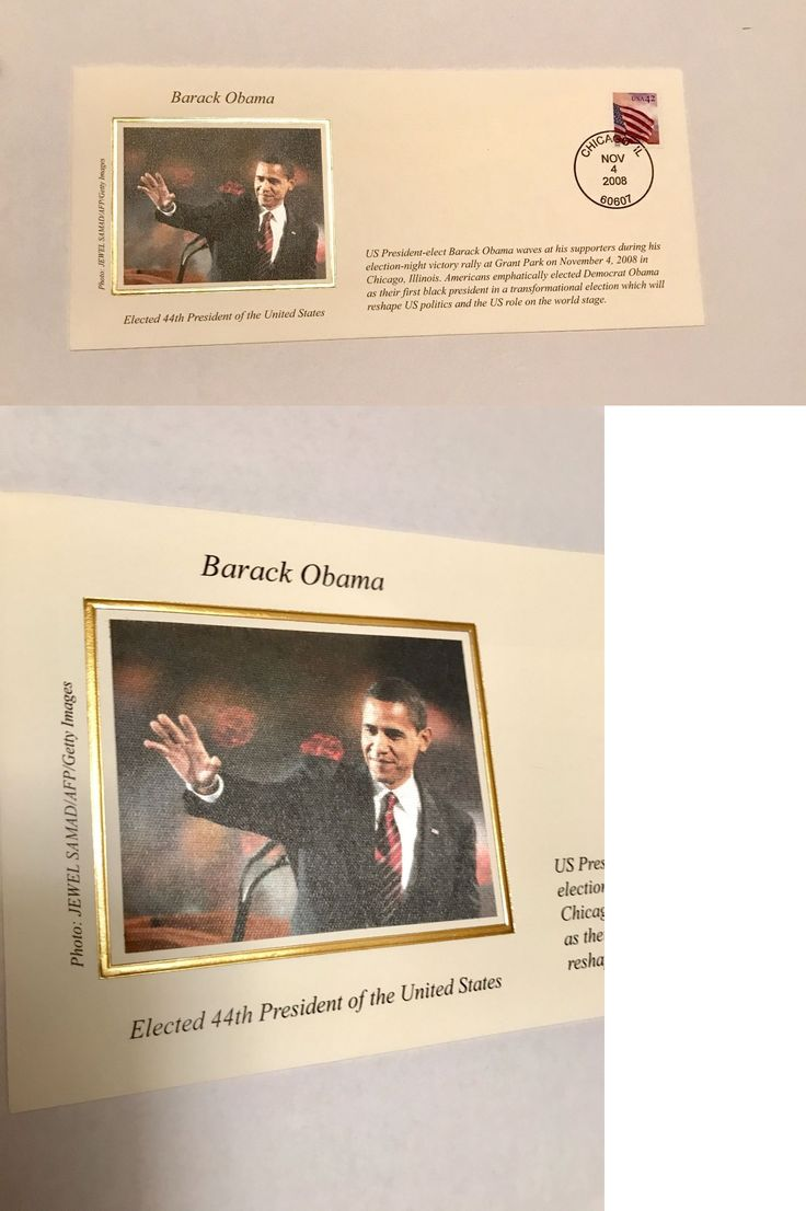 Barack Obama: 2008 44Th President Barack Obama Commemorative Souvenir Stamp Envelope -> BUY IT NOW ONLY: $5 on eBay!