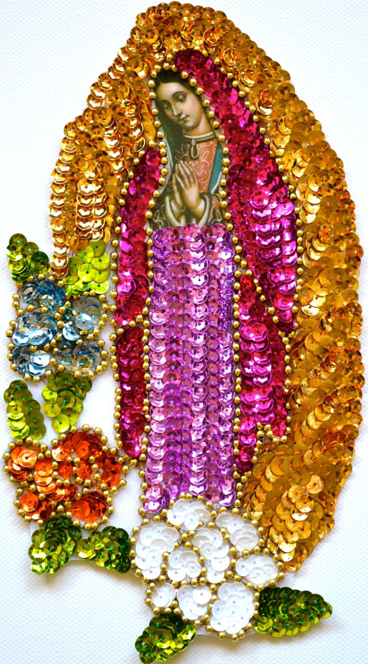Guadalupe sequin patches.©Mexico Import Arts Australia