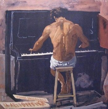 The naked pianist, Villeneuve-les-Sablons, 1971 by Yannis Tsarouchis.