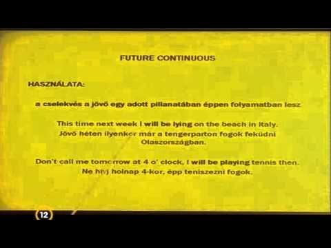 Angol nyelvtanulás, nyelvleckék ~ jövőidők - YouTube