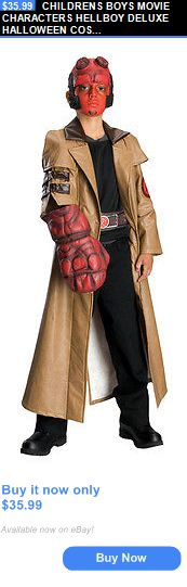 Halloween Costumes: Childrens Boys Movie Characters Hellboy Deluxe Halloween Costume - Medium BUY IT NOW ONLY: $35.99
