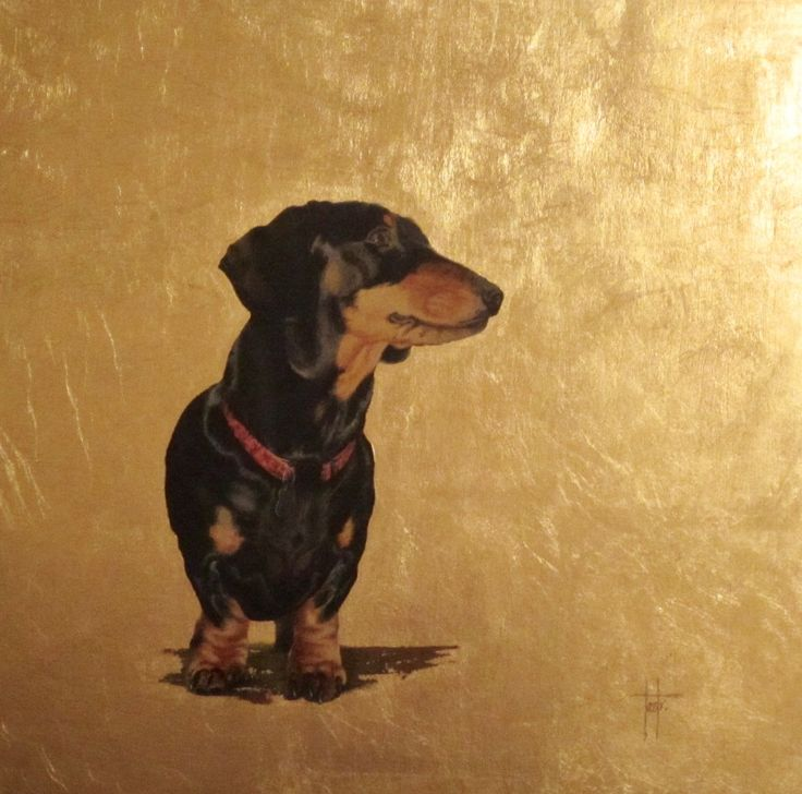 Frank - Acrylic and gold leaf on wood panel (picture taken in poor light!)