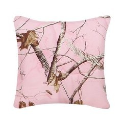 Pink pillow with branches
