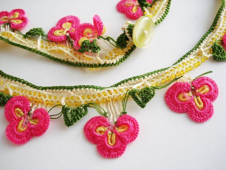 turkish #oya #crochet #lace - $23.00, via Etsy.