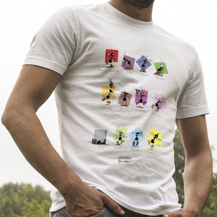 """T-shirt """"Umori"""".  #colori #umori #felicità #idearegalo #tshirtuomo"""