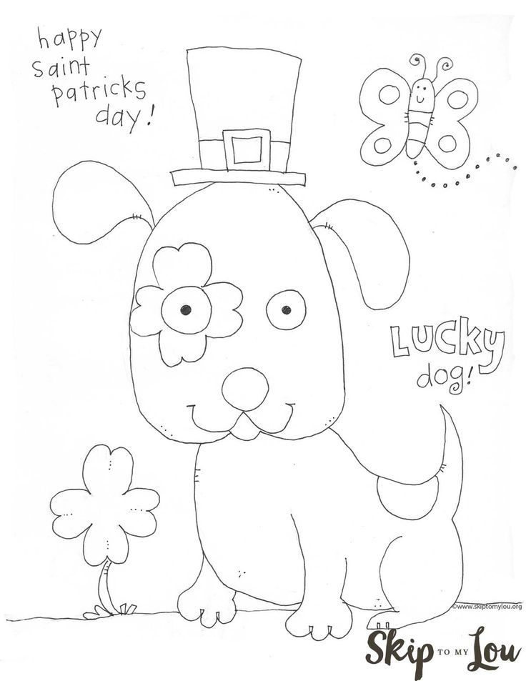 St Patricks Day Coloring Page for Preschoolers | Skip to my ...