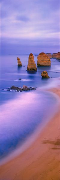 Before sunrise in The Twelve Apostles, Port Campbell National Park, Victoria, Australia