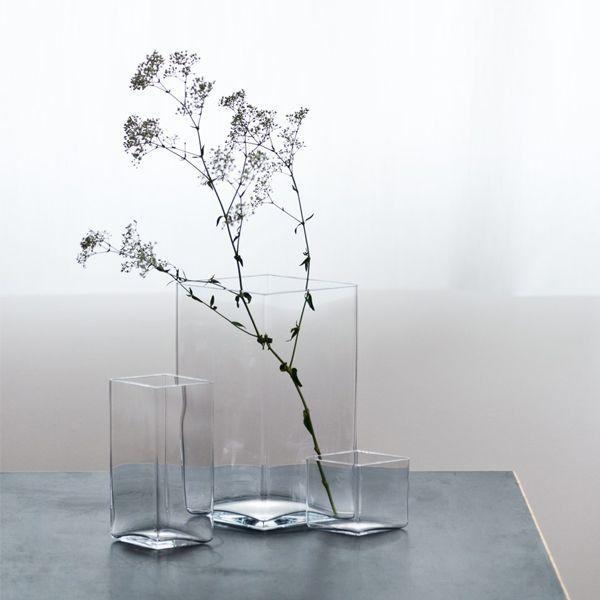 Iittala Ruutu vase 205x270 mm, clear | Ruutu | Vases | Decoration | Finnish Design Shop