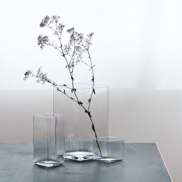 Iittala Ruutu vase 205x270 mm, clear   Ruutu   Vases